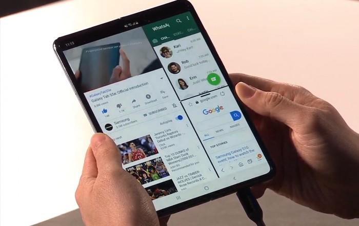 Bentuk Tablet Samsung Galaxy Fold