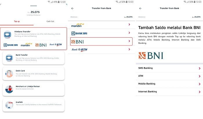 Top Up LinkAja Bank