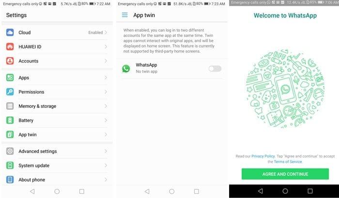 dua WhatsApp dengan Clone