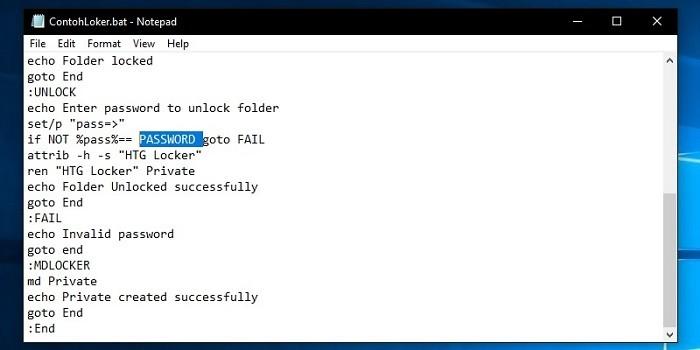 Cara Mengunci File di Laptop Edit Password