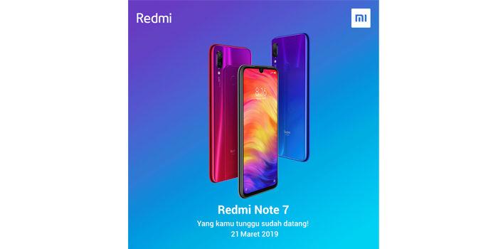 Redmi Note 7 Indonesia tanggal rilis