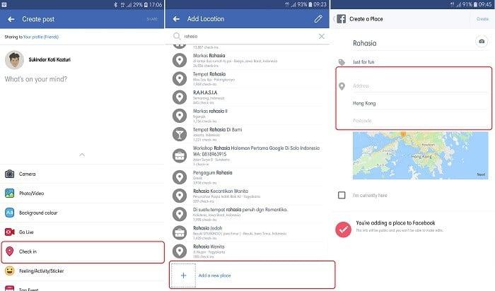Cara Membuat Lokasi Baru di Instagram - Facebook