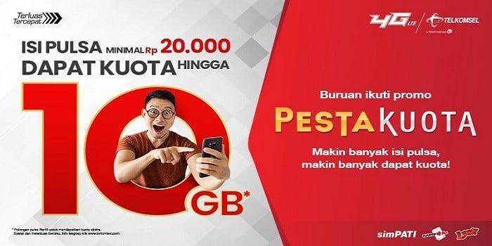Pesta Kuota Telkomsel Header