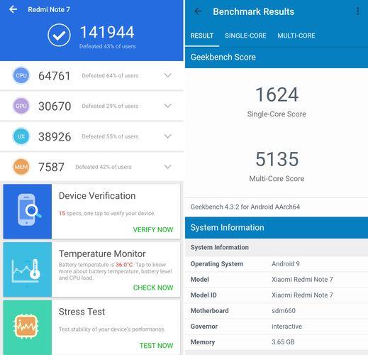 Redmi Note 7 Benchmark