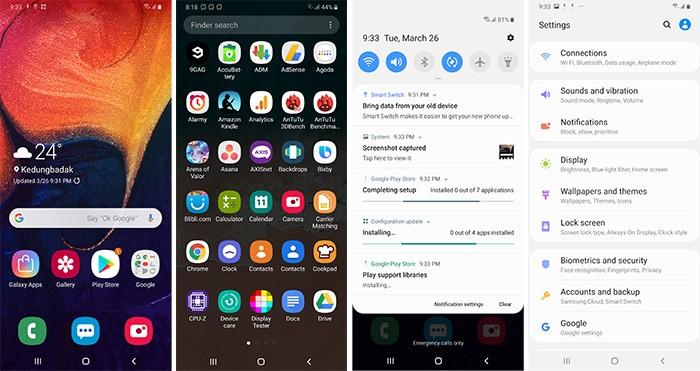 Samsung Galaxy A50 UI
