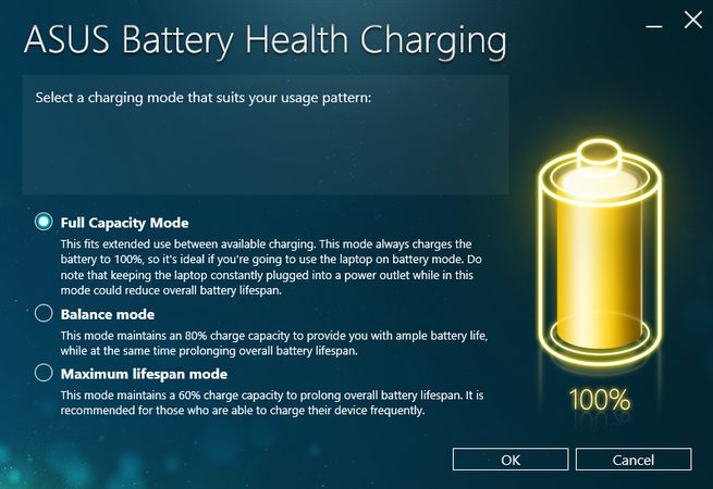 ASUS VivoBook X505ZA Battery Health