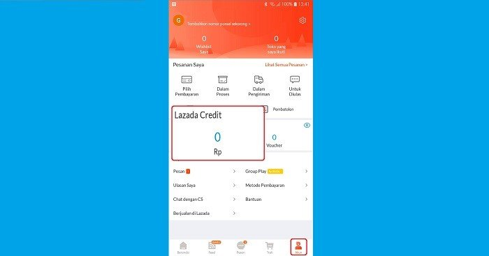 Apa Itu Lazada Credit Cara Top Up