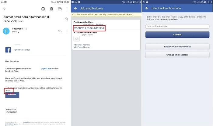 Cara Mengganti Email Facebook - Verifikasi