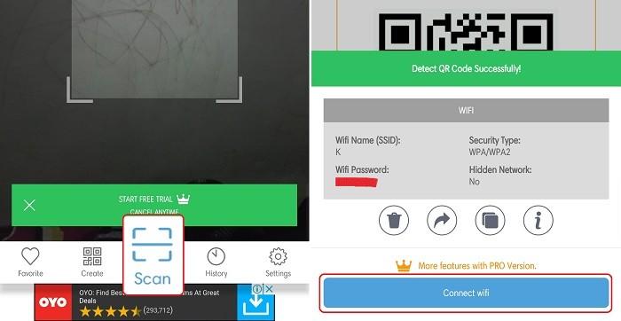 Cara Scan Barcode Wifi di OPPO - Scan