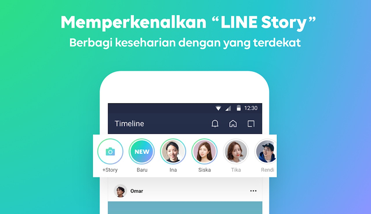 cara menampilkan Story pada aplikasi LINE Header