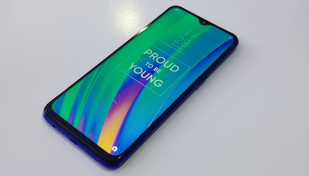 cara screenshot Realme 3 Pro header