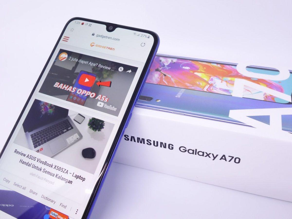 2 cara screenshot samsung galaxy a70
