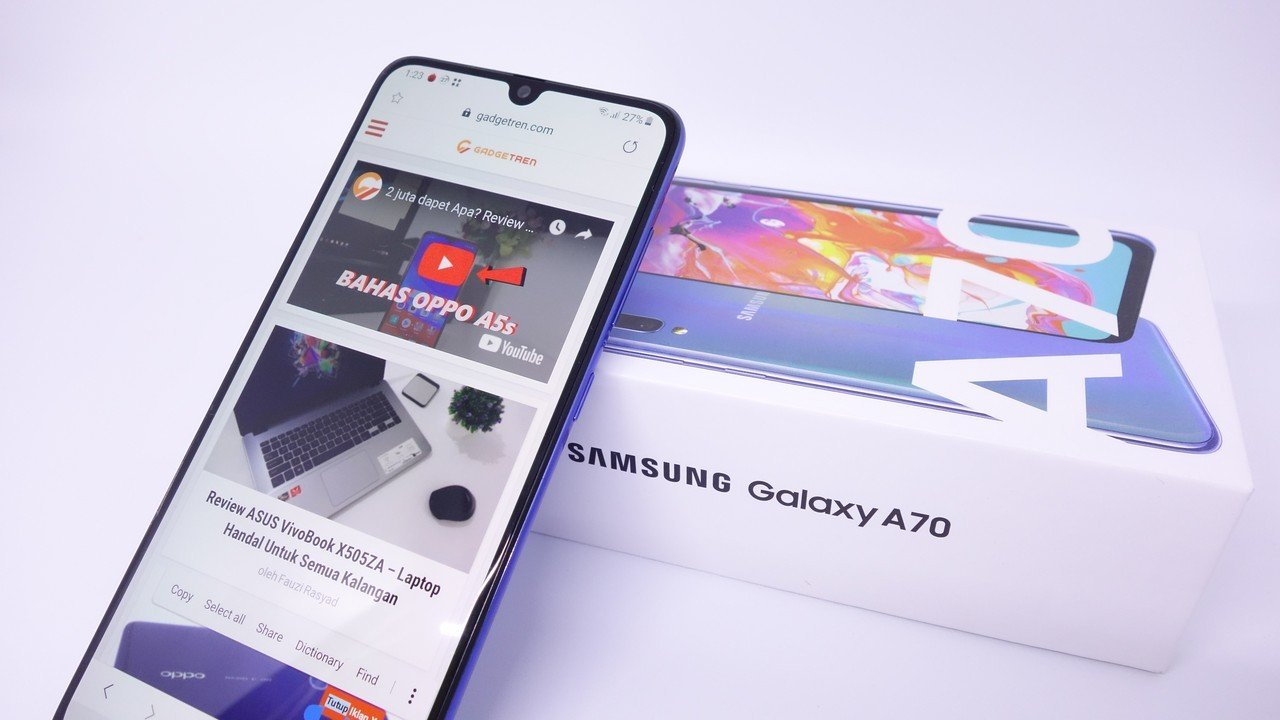 Review Samsung Galaxy A70 Header
