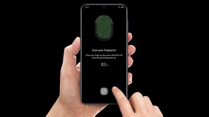Samsung Galaxy A70 On-Screen Fingerprint