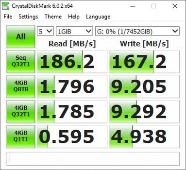 Seagate Back Plus Hub CrystalDiskMark