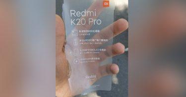 Xiaomi Redmi K20 Pro Leak kertas