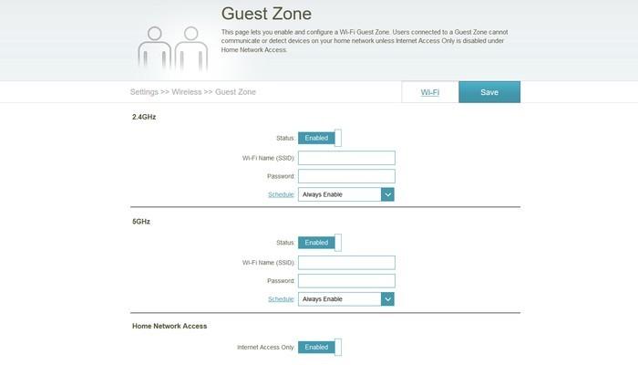 D-Link DIR-878 Guest Zone
