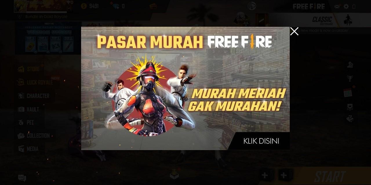 Pasar Murah Free Fire Header