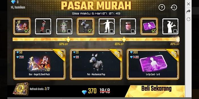 Pasar Murah Free Fire