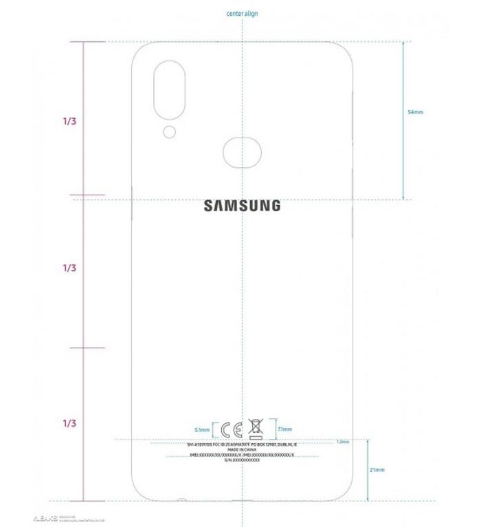 Samsung Galaxy A10s Back
