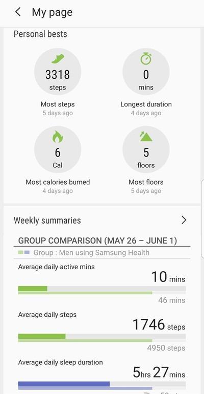Samsung Galaxy Watch Active Health App