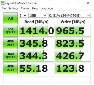 ASUS ROG Strix III G531GV CrystalDiskMarks