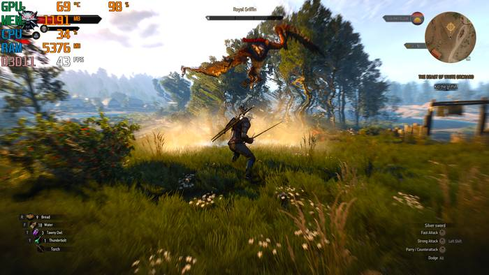 ASUS TUF Gaming FX505DT Witcher 3