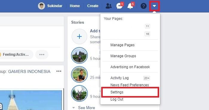 Cara Mengubah Nama Facebook - Desktop