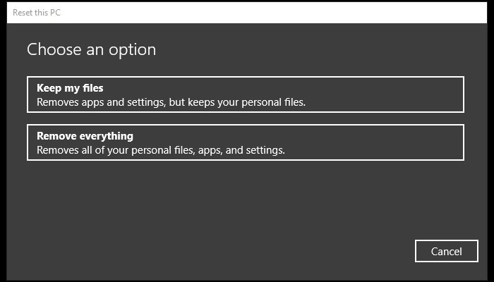 Cara Reset Laptop Windows 10 - Options