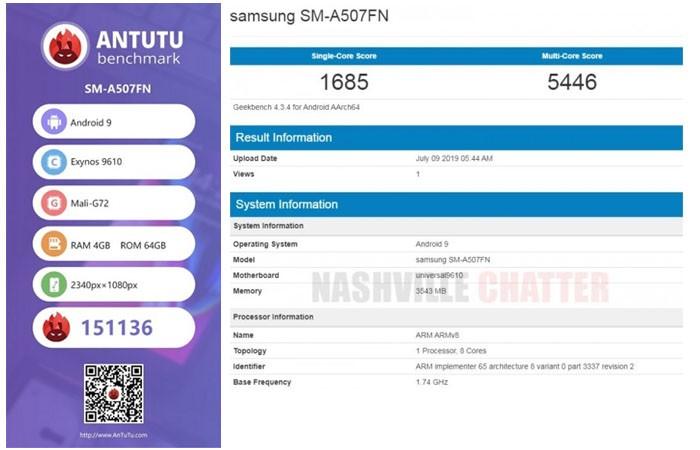 Galaxy A50s AnTuTu