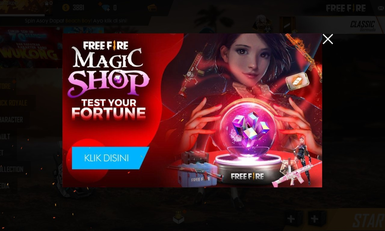 Magic Shop Free Fire Header