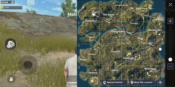 Perbedaan PUBG Mobile dan PUBG Mobile Lite Map