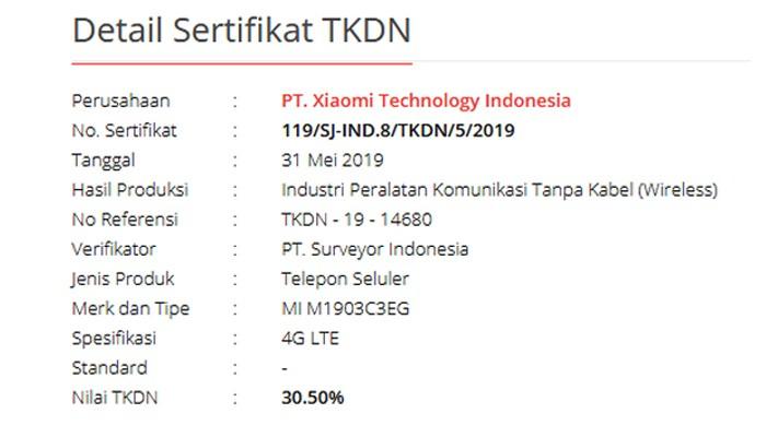 Xiaomi Redmi 7A TKDN