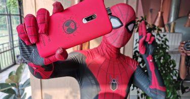 realme X Spiderman Selfie