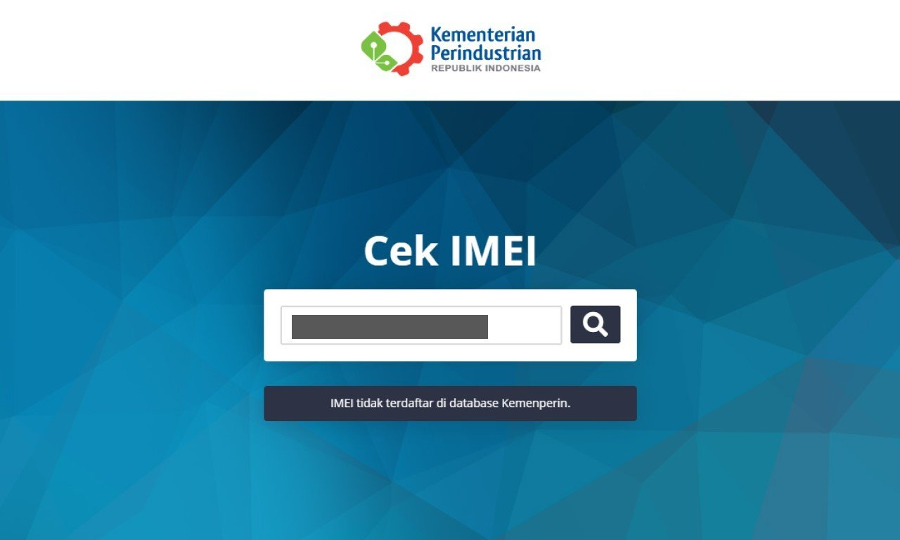 Cara Daftarkan IMEI ke Kemenperin Header