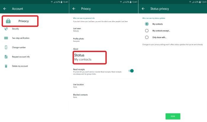 Cara Menyembunyikan Stories di WhatsApp - 1