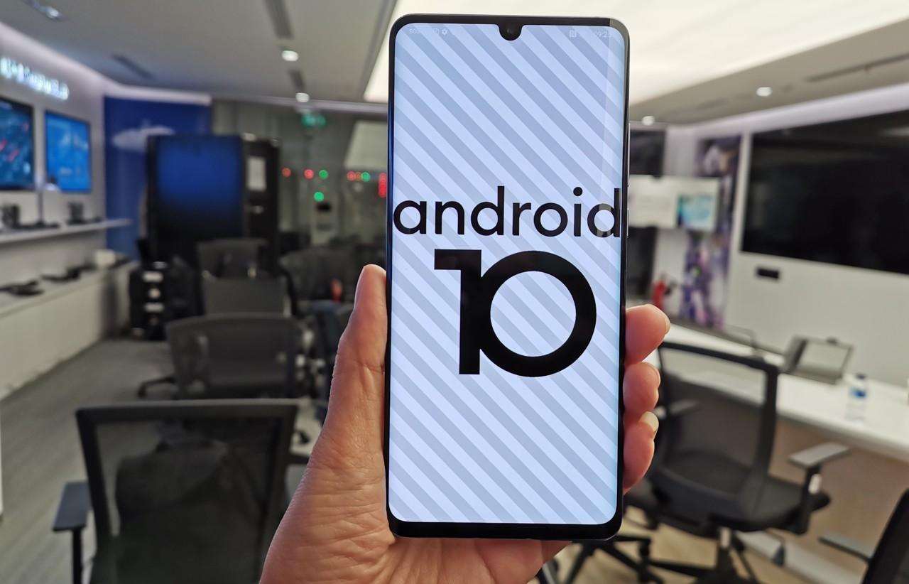 Cara Screenshot Android 10 Header