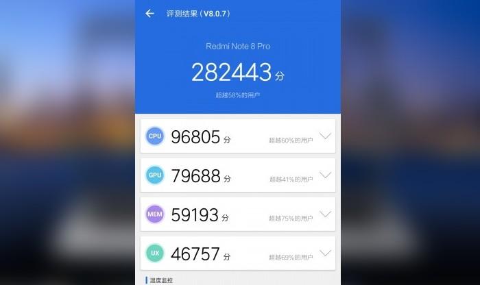 Redmi Note 8 Pro AnTuTu