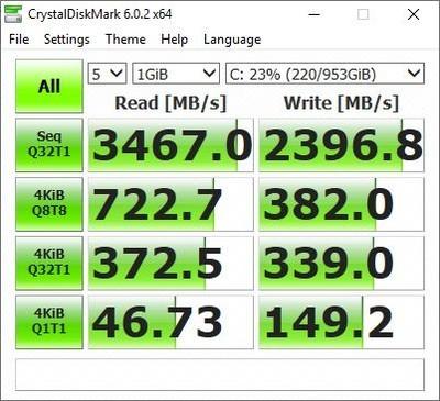 ASUS ZenBook S13 UX392F CrystalDiskMark