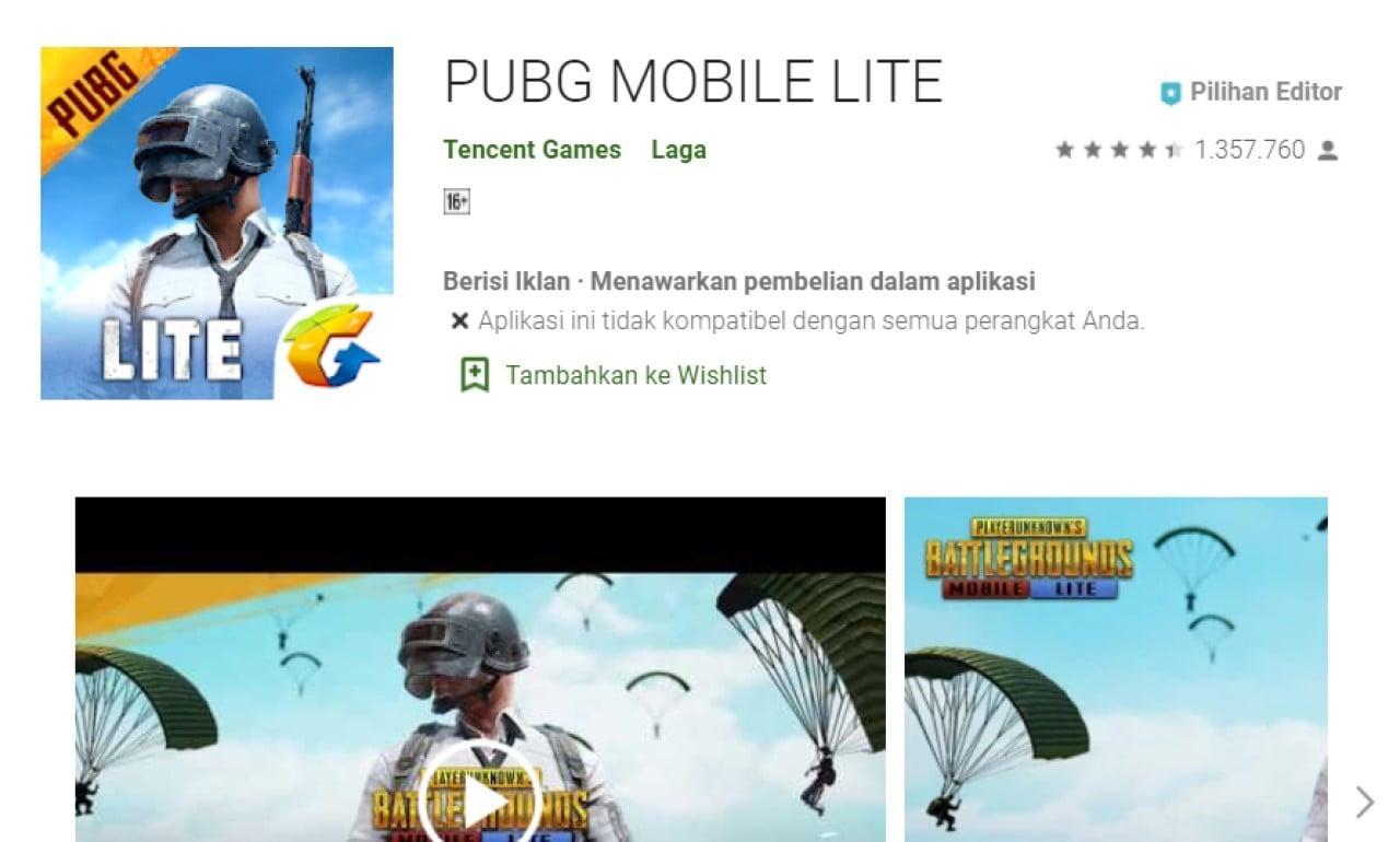 Kenapa PUBG Mobile Lite Tidak Ada di Google Play Store Header
