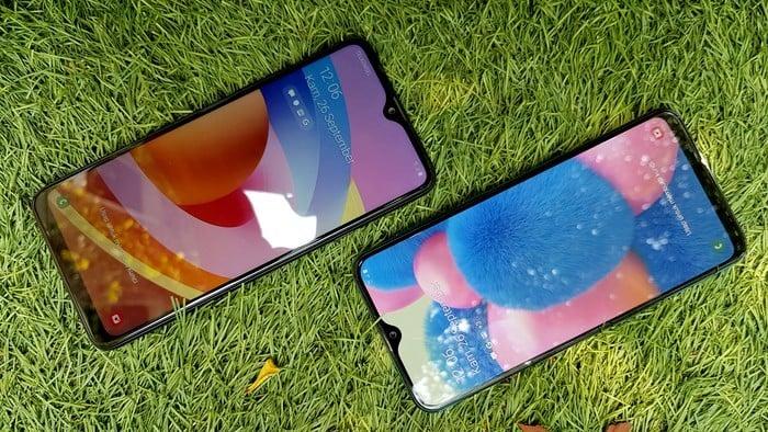 Samsung Galaxy A20s A30s Layar Depan