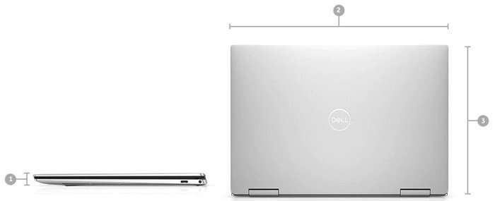 Dell XPS 13 2 in 1 Pinggir