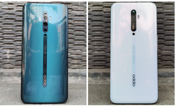 OPPO Reno2 F Back White and Green