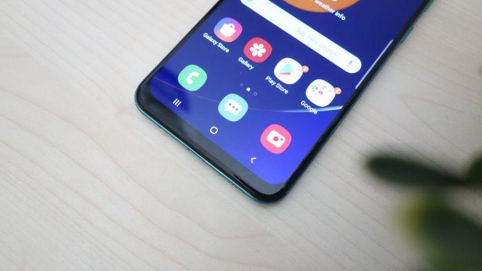 Samsung Galaxy A50s Bawah Layar
