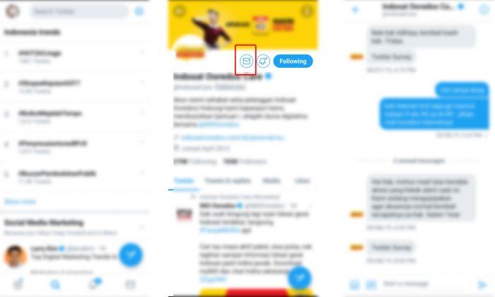twitter aplikasi DM