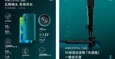 Xiaomi Mi CC9 Pro 5 Kamera