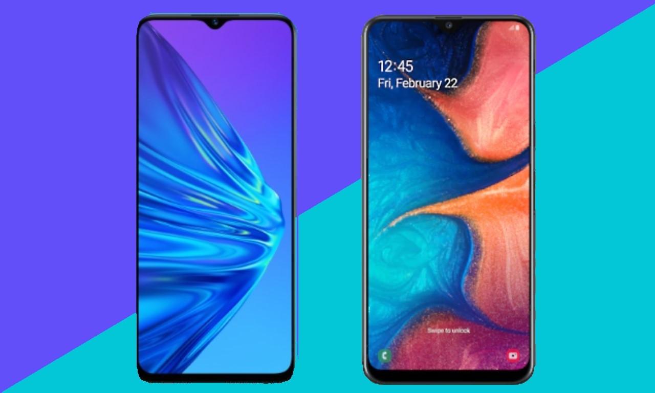 realme 5 vs Samsung A20 Header