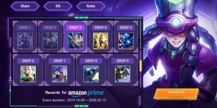 Amazon Prime Mobile Legends