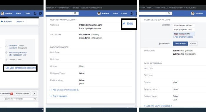 Cara Membuat Link WhatsApp di FaceBook Desktop