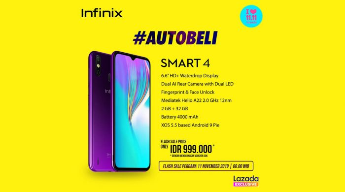 Infinix Smart 4 Flash Sale